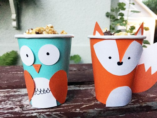 owl and fox cups