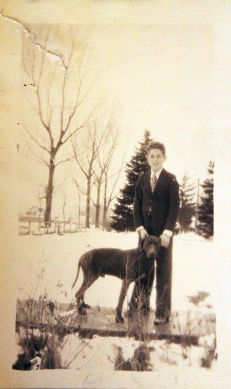 Grandpa Cliff + dog